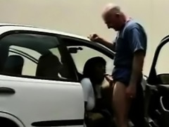 Black Hooker Fucked Outdoors On A Car