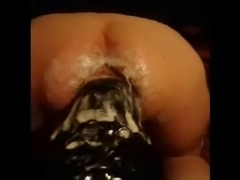 Hugest dildo fuck 2 ass insertion 2