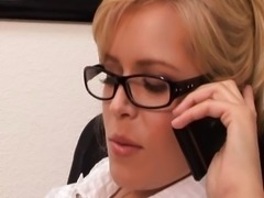 Blond secretary the better pussy
