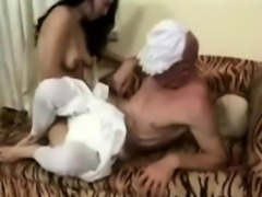 MILF wears her strapon to destroy a diapers pervs ass