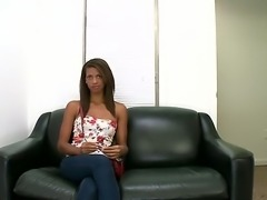 Casting couch with a hot ebony teen. She wants to become a porn goddess, but first the agent needs to make sure that she is the right fit for the job and orders her to take of her clothes.