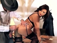 This video features Danny D, a man who pulverizes any bimbo that he pierces through her twat with his monster cock and anna polina, fit and sexy Russian pornstar. She gets sucks him good and then gets smashed on the desk.
