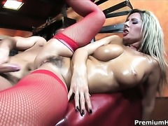 Daria Glower with massive jugs is a sex addict that loves mans erect love torpedo so much