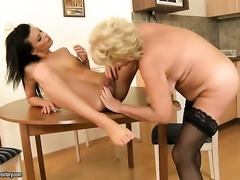 Blonde gets tongue fucked by Sally G. the way she loves it