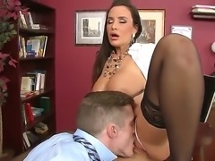 Lisa ann xxx stops by her sex therapist. She is wearing sexy black stockings and is prescribed with a fat cock deep inside her juicy vagina.