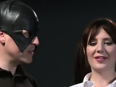 Busty slave in bdsm gets pussy spanked