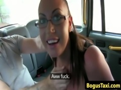 Hugetitted english slut sucks taxi driver off free