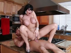 Eva Karera with massive tits gets her back yard trained by sturdy meat stick of Bill Bailey