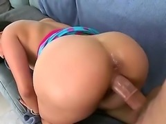 Brunette Latina with a massive ass (emphasis on the massive), Valerie Kay, is about to have her tight little fanny banged without mercy by a long and jumbo sized white pecker. Damn, she loves them big ones