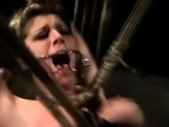 Pussy Severely Whipped in BDSM!