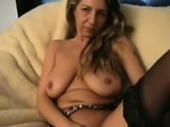 Amazing footjob from MILF to soldier