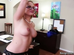 Adorable slut Katja Kassin gets a nice pussy fuck in steamy action with Billy Glide