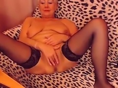 Granny Gets Naked And Fingers