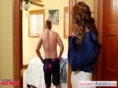 Nasty mom Eva Notty fucking dick with her tits free