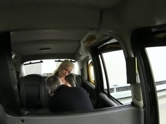 Big boobs amateur blonde passenger ass nailed real good