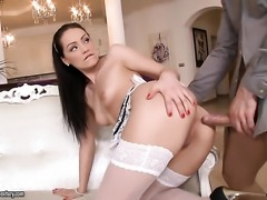 Sophie Lynx is getting an anal gangbang
