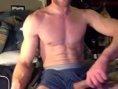 Str8 guy has long stroke session
