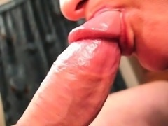 Hot Wife Red Lipstick Blowjob