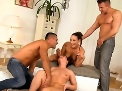 Renato, Choky Ice, Mea Melone and Wendy Moon are filmed doing an orgy. Watch them as they are having group sex. The skinny bitches really know how to make men cum.