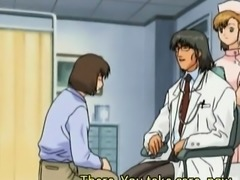 Busty hentai nurse gets roped and slit banged