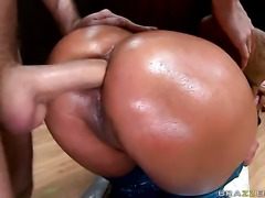 Nikita Denise with bubbly bottom is just another anal fuck toy of hard cocked dude James Deen