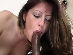 Liza choks down a cock