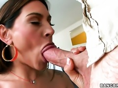 Brunette with round booty needs nothing but a hard schlong in her vagina to get satisfaction
