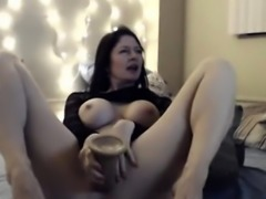 Sweet Adorable Millf with Vibrator Having a Jolly Time