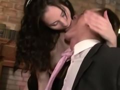 Wanita gets caught by her boss playing at work