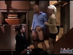 Two kinky sluts get peed on and fucked