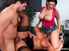 Ramon loves always wet warm love hole of Claire Dames  Alura Jenson with phat bottom