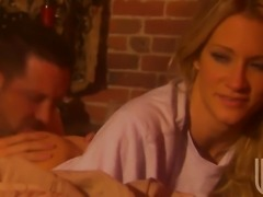Jessica drake turns man on to make him explode