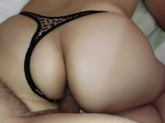 Big booty chick bends over and gets drilled hard doggy styl