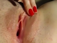 Closeup Pussy Shot of Live WetVibe Sex Toy Teasing Clit