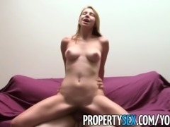 PropertySex - Nudist with jaw dropping natural tits fucks her landlord