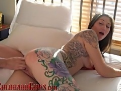 Beautiflly Tattooed Girl Next Door Fucked Fingered And Eaten