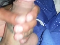 Wife lets me jerk off while she sleeping