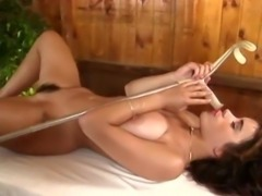 Fisting and Masturbation of a Big Tits Hairy Pussy