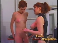 This mistress makes a slave girl help out with dominating a skinny babe Doctor, Femdom, Mistress, Slave, Helpless, Her-slave, Sexy, Sexy-mistress