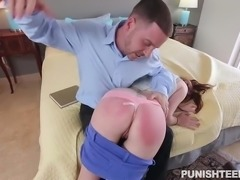 One day after waking up, Leigh Rose encountered a problem sitting right next to her, her ex boyfriend. Who just came to punish her, for hurting his feelings and doing bad things to him in the past. He grabbed her tightly and slapped her ass. Now his dick needs some satisfaction