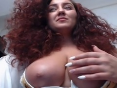 Romanian, Curly-hair, Huge-tits, Red-hair
