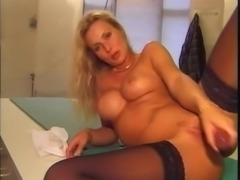 Swedish maid plays in the kitchen - Eva