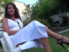La Cochonne - Amateur French mature squirts while getting ass fucked