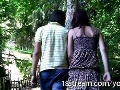 Hot fuck in the park with a teen