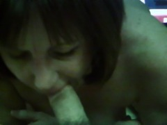 Piggy Milf amateur wife sucks cock