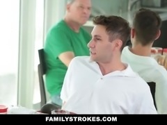 Family Strokes- Step-Mom Teases and Fucks Step-Son