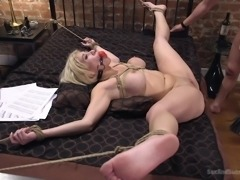Cristi Ann is a chick that loves to be dominated. Only thing that brings her pleasure, is being tied up and used by men, as a personal fuck toy. She loves, when she gets fucked in her perky little mouth. The feel of big cock sliding down her throat, is something she prefers the most!