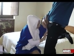 Arab girl is paid for sex