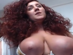 Curly Red Hair Huge Tits