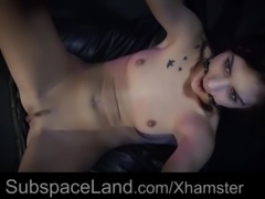 Bondage playroom ruthless ass submission for a slave girl